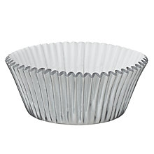 Buy Wilton Silver Cake Cases, 24 Pieces Online at johnlewis.com