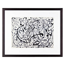 Buy Jackson Pollock - Number 14 Framed Print, 37 x 30cm Online at johnlewis.com
