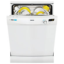 Buy Zanussi ZDF14001WA Freestanding Dishwasher, White Online at johnlewis.com