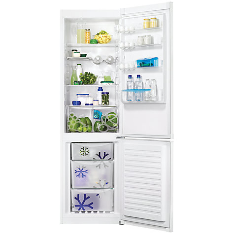Buy Zanussi ZRB38214WA Fridge Freezer, A++ Energy Rating, 60cm Wide, White Online at johnlewis.com