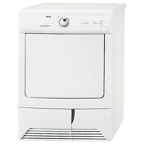 Buy Zanussi ZDC37202W Condenser Tumble Dryer, 7kg Load, C Energy Rating, White Online at johnlewis.com