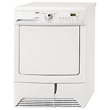 Buy Zanussi ZTH485 Condenser Tumble Dryer, 7kg Load, A Energy Rating, White Online at johnlewis.com