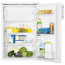Buy Zanussi ZRG15800WA Fridge with Freezer Compartment, A+ Energy Rating, 55cm Wide, White Online at johnlewis.com
