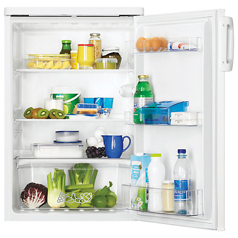 Buy Zanussi ZRG16600WA Larder Fridge, A+ Energy Rating, 55cm Wide, White Online at johnlewis.com