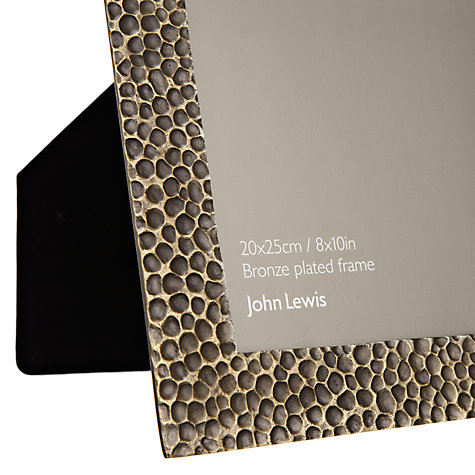 "Buy John Lewis Hammered Photo Frame, Bronze, 8 x 10"" (20 x 25cm) Online at johnlewis.com"