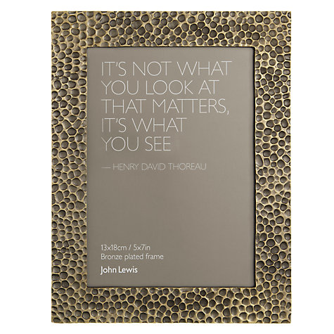 "Buy John Lewis Hammered Photo Frame, Bronze, 5 x 7"" (13 x 18cm) Online at johnlewis.com"