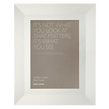 "Buy John Lewis Smoked Glass Photo Frame, 5 x 7"" (13 x 18cm) Online at johnlewis.com"