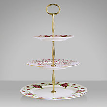 Buy Royal Albert Country Rose Cake Stand, Dia.27cm, White Online at johnlewis.com