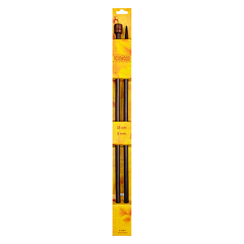 Buy Pony Rosewood 35cm Knitting Needles, Assorted Widths Online at johnlewis.com