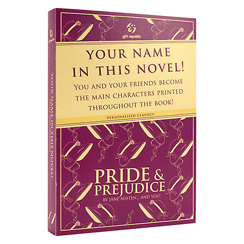 Buy Pride and Prejudice Personalised Book Online at johnlewis.com