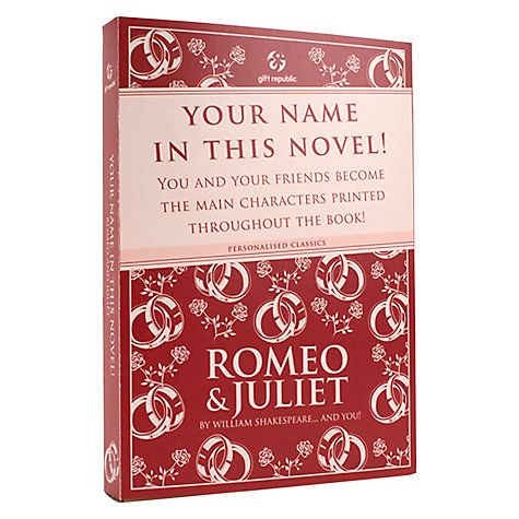 Buy Romeo and Juliet Personalised Book Online at johnlewis.com