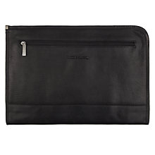 Buy Smith & Canova Leather Folio, Black Online at johnlewis.com