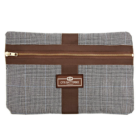 Buy Otis Batterbee Classic Slimline Washbag, Prince of Wales Check Online at johnlewis.com