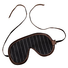 Buy Otis Batterbee Eye Mask, Grey Pinstripe Online at johnlewis.com