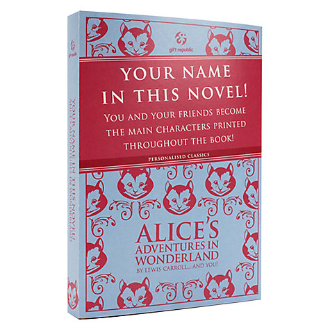 Buy Alice In Wonderland Personalised Book Online at johnlewis.com