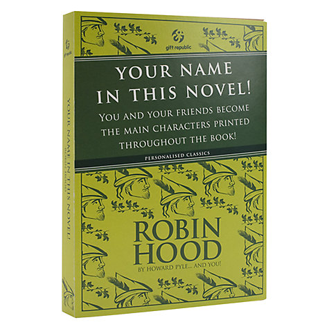 Buy Robin Hood Personalised Book Online at johnlewis.com