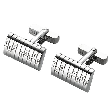 Buy Ted Baker Discuff Logo Cufflinks Online at johnlewis.com