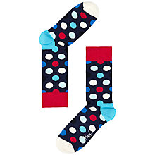 Buy Happy Socks Big Dot Socks, Navy/Red/Blue, One Size Online at johnlewis.com