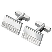 Buy Ted Baker Etched Stripe Logo Cufflinks Online at johnlewis.com