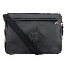 Buy Ted Baker Logo Embossed Messenger Bag, Black Online at johnlewis.com