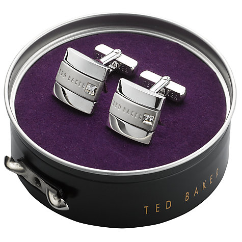 Buy Ted Baker Square Crystal Cufflinks Online at johnlewis.com