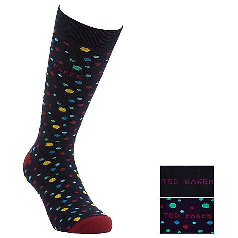 Buy Ted Baker Panoats Dots Socks, Pack of 2, One Size Online at johnlewis.com