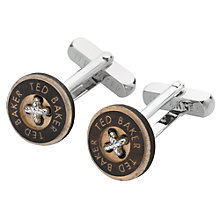 Buy Ted Baker Wooden Button Cufflinks, Natural Online at johnlewis.com