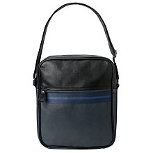 Buy Ted Baker Webbing Flight Bag, Blue Online at johnlewis.com