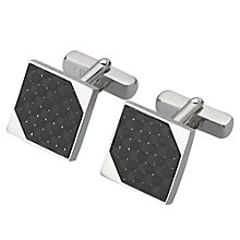 Buy Ted Baker Carbs Carbon Fibre Cufflinks Online at johnlewis.com