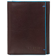 Buy Ted Baker Orems Leather Tri-Fold Wallet Online at johnlewis.com