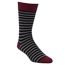 Buy Gant Breton Stripe Socks, One Size, Navy Online at johnlewis.com