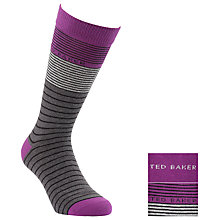 Buy Ted Baker Striped Socks, Pack Of 2,  Multi Online at johnlewis.com