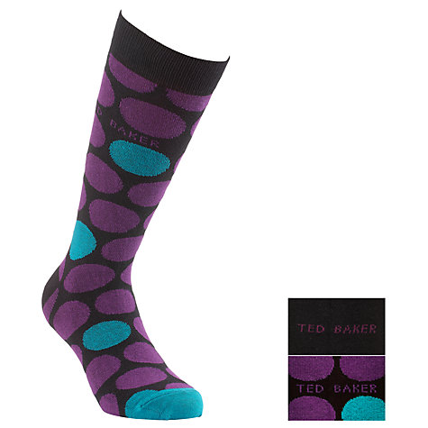 Buy Ted Baker Blocrou Rounded Circles Socks, Pack of 2, One Size, Multi Online at johnlewis.com