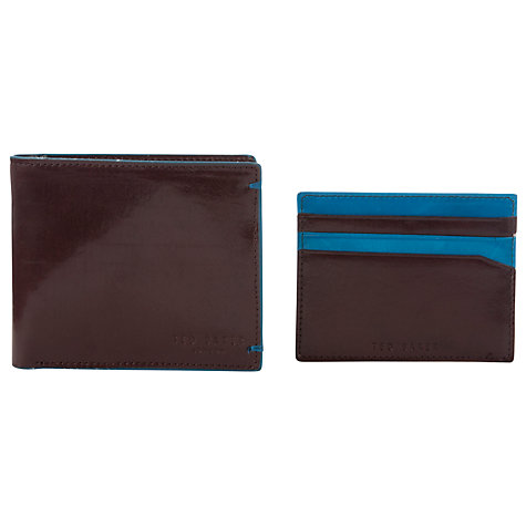 Buy Ted Baker Paint Leather Bi-Fold Wallet Online at johnlewis.com