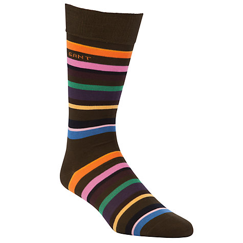 Buy Gant Striped Socks, Multi Online at johnlewis.com