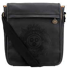 Buy Ted Baker Logo Embossed Flight Bag, Black Online at johnlewis.com