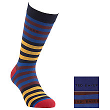 Buy Ted Baker Fatdom Striped Socks, Pack of 2, Multi Online at johnlewis.com