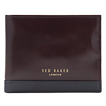 Buy Ted Baker Marling Stripe Coin Bifold Wallet, Chocolate Online at johnlewis.com