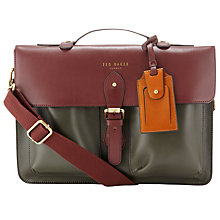 Buy Ted Baker Harlem Leather Satchel Online at johnlewis.com
