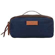 Buy Ted Baker Canvas Wash Bag, Navy Online at johnlewis.com