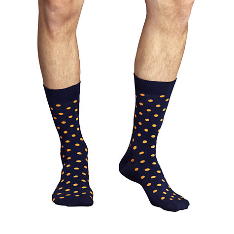 Buy Happy Socks Small Dot Socks, Blue/Orange Online at johnlewis.com