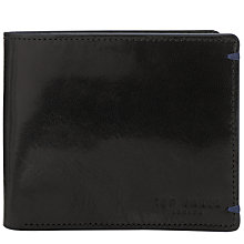 Buy Ted Baker Theflux Leather Bi-Fold Wallet Online at johnlewis.com