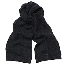 Buy Ted Baker Fisherman's Rib Scarf, Navy Online at johnlewis.com