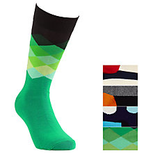 Buy Happy Socks Patterned Sock Gift Set, Pack of 4, One Size, Multi Online at johnlewis.com