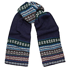 Buy Ted Baker Fair Isle Scarf, Navy Online at johnlewis.com