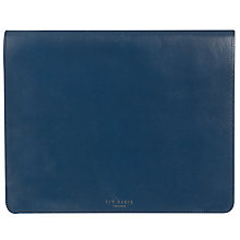 Buy Ted Baker Leather Tablet Case, Blue Online at johnlewis.com