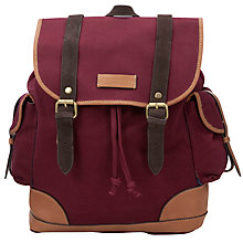 Buy Ted Baker Drspock Canvas Leather Trim Backpack Online at johnlewis.com
