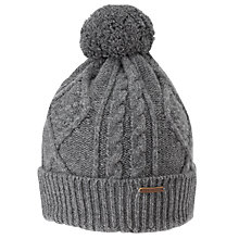 Buy Ted Baker Cable Knit Hat, Grey Online at johnlewis.com