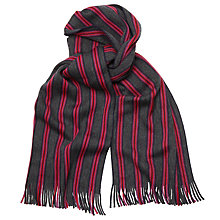 Buy Ted Baker Striped Scarf, Grey/Purple Online at johnlewis.com
