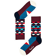 Buy Happy Socks Triangles Socks, Multi Online at johnlewis.com